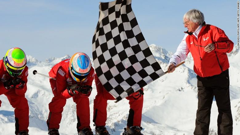 Bernie Ecclestone swaps pit lane for ski slope