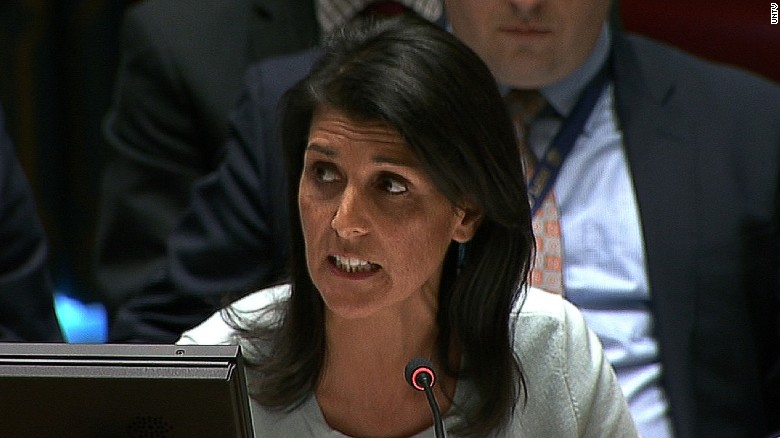 Haley: Talking tough at the United Nations