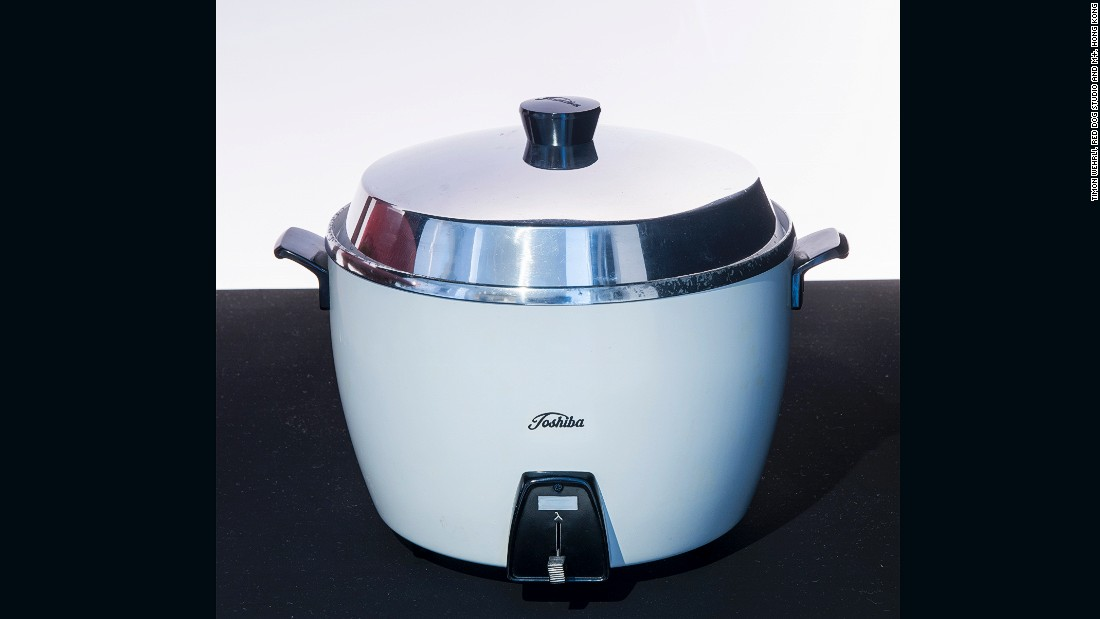 A rice cooker manufactured by Tokyo Shibaura Electric Co., Ltd. (Now Toshiba Corporation).
