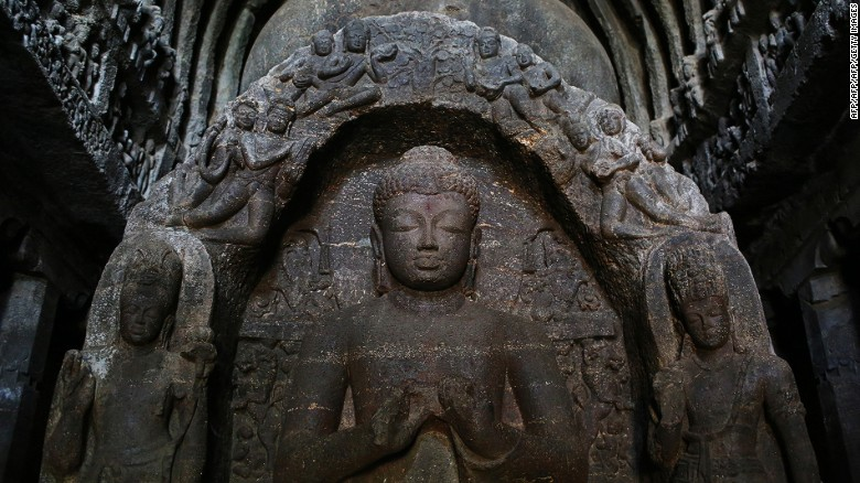 <strong>Ellora, India: </strong>Ellora was carved out of the mountains, and this Indian monastic complex remains relatively unknown. The temples include Hindu, Buddhist and Jaina holy sites that were built over 400 years, beginning in the 6th century.