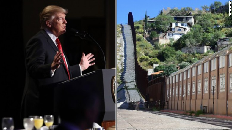 Image result for border wall trump