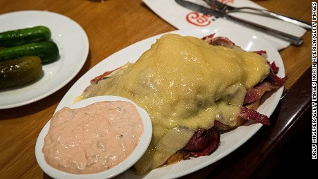 Russian dressing typically is served with corned beef, Swiss and sauerkraut on a Reuben sandwich.