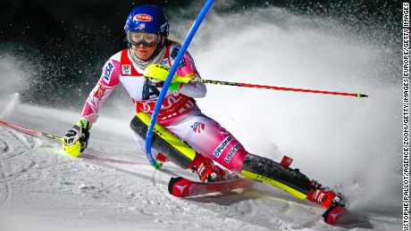 Mikaela Shiffrin goes for a third straight world slalom title in St. Moritz.