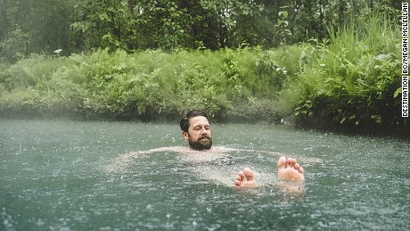 You can take a hiking detour to Liard River Hot Springs.
