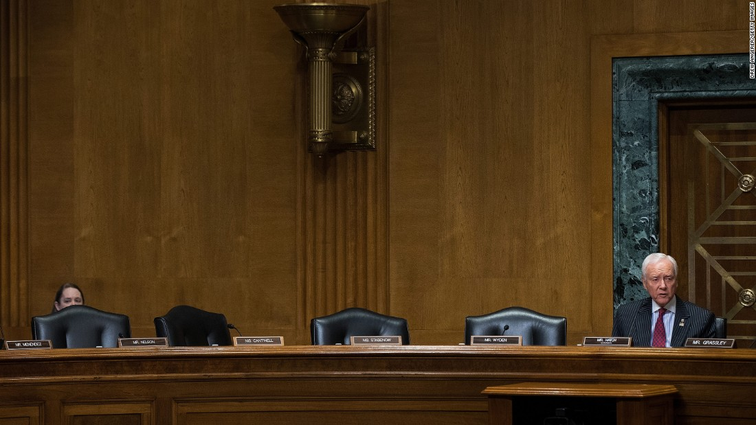 "With empty seats to his right, US Sen. Orrin Hatch speaks during a meeting of the Senate Finance Committee on Wednesday, February 1. Democrats on the committee didn't show up to vote on the Cabinet nominations of Steve Mnuchin and US Rep. Tom Price, so the Republicans <a href=""http://www.cnn.com/2017/02/01/politics/republicans-vote-to-suspend-committee-rules-advance-mnuchin-price-nominations/"" target=""_blank"">suspended committee rules</a> and voted without the Democrats. <a href=""http://www.cnn.com/2017/01/10/politics/gallery/trump-cabinet-confirmation-hearings/index.html"" target=""_blank"">Photo gallery: Trump's Cabinet nominees</a>"