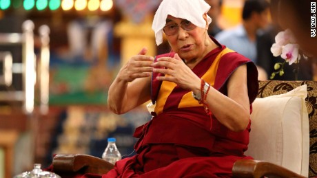The Dalai Lama is often playful when he speaks, even when he talks about serious topics, as he did at the symposium.
