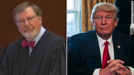Image result for judge robarts and trump