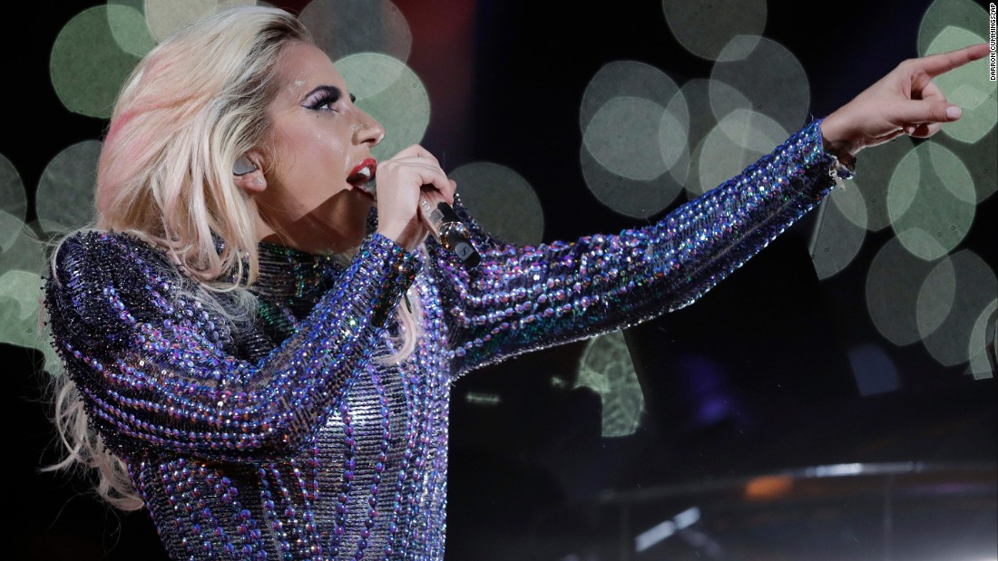 Gaga sang the national anthem at last year's Super Bowl.