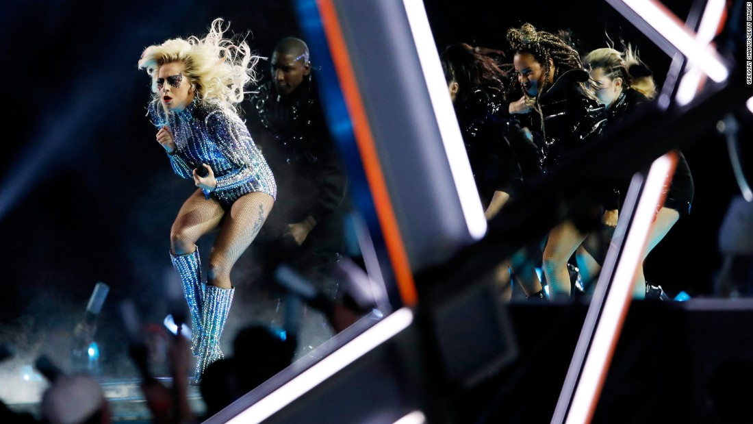 Gaga and dancers perform.