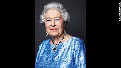 This 2014 photograph has been reissued for Queen Elizabeth's Sapphire Anniversary on February 6.