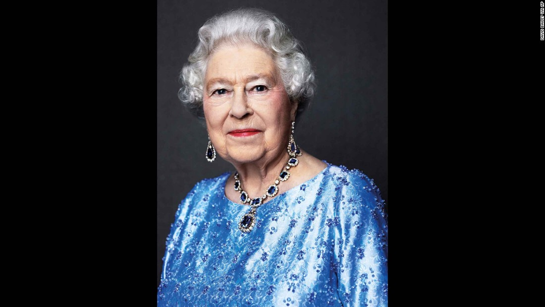This 2014 portrait of Queen Elizabeth II was reissued on February 6, 2017 to celebrate her Sapphire Anniversary, marking 65 years since she ascended to the throne following her father's death in 1952.