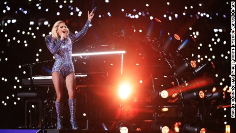 HOUSTON, TX - FEBRUARY 05:  Lady Gaga performs during the Pepsi Zero Sugar Super Bowl 51 Halftime Show at NRG Stadium on February 5, 2017 in Houston, Texas.  (Photo by Mike Ehrmann/Getty Images)