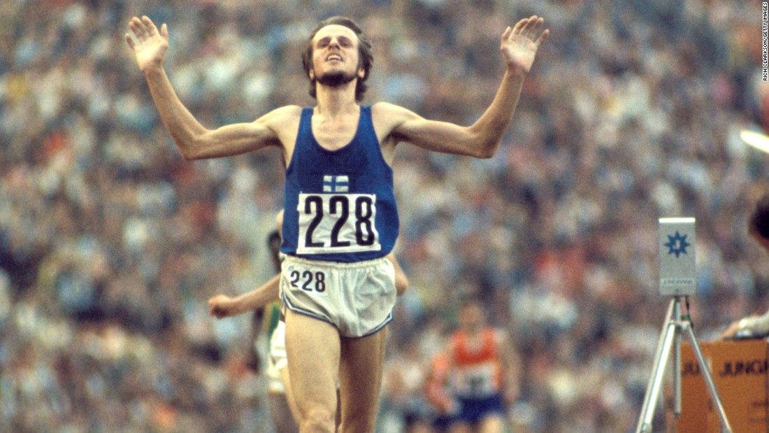 Falling in an Olympic track event is generally a death knell. That wasn't the case for Finland's Lasse Viren during the 1972 Munich Games. Viren got tangled with Belgian runner Emiel Putteman on the 12th lap. He not only recovered, but he broke the world record with a time of 27:38:40 to win gold. Viren also accomplished the rare feat of winning the 5,000-meter race in that Olympics as well.