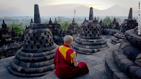 Breakfast among the Buddhas: Borobodur, Indonesia