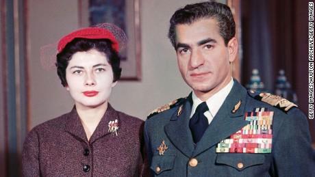 The Shah of Iran Mohammed Reza Pahlavi with Soraya Esfandiary Bakhtiari in 1958.