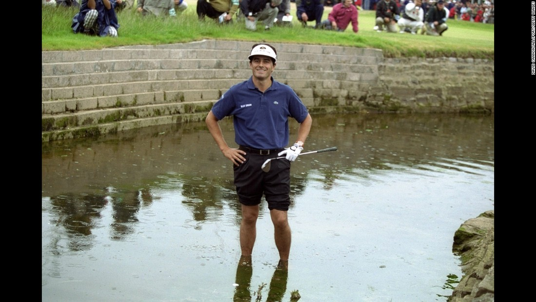 In the final round of the 1999 British Open, Jean van de Velde had a 3-stroke lead on the 18th hole and looked to be set for his first major title. But then he hit it into the water, opening the door for Paul Lawrie and Justin Leonard in a playoff. Lawrie, who trailed by 10 strokes going into the final round, won the four-hole playoff by three shots.
