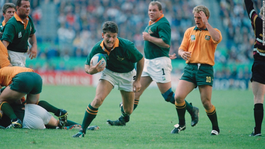 He helped South Africa win its first World Cup in 1995. As the first major sporting event to take place in South Africa after the end of Apartheid rule, the victory was considered a great political, as well as sporting, triumph.