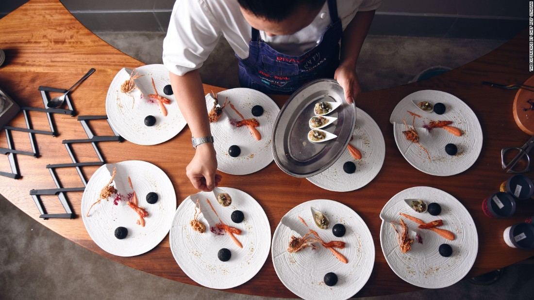 """Singaporean chef Reif has taken the traditional chef's table to another level by creating a private 'apartment' one floor above his restaurant Play in the H Hotel, where he personally cooks and serves up to 12 guests, any day and night of the week,"" says Wood."