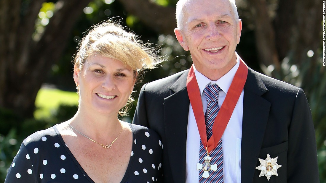 "Tietjens, pictured with his wife Julia, was knighted for his services to rugby in 2013. When asked if he wanted to be called ""Sir,"" he replied that he preferred to be known by his nickname ""Titch."" Local media dubbed him ""Sir Titch."""