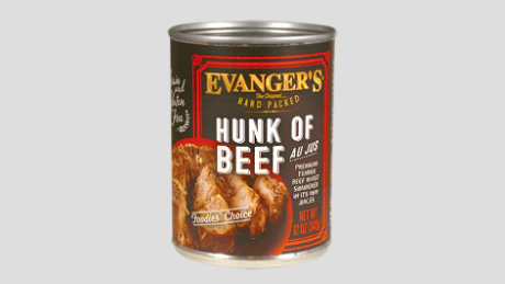 The contaminated dog food was Hunk of Beef