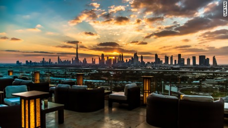 """Not to mention, there are stunning Burj Khalifa views from the tatami terrace atop Raffles hotel."""