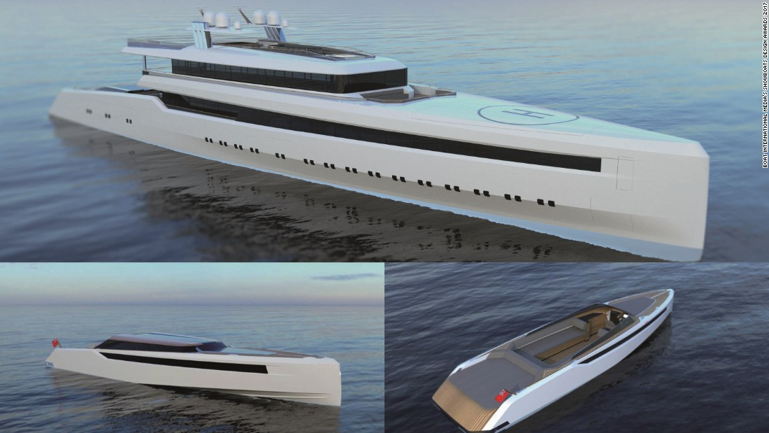 Applicants for both categories were tasked with providing an outline drawing of an 262ft superyacht and more detailed designs for two tenders. The Professional Designer award went to Frenchman Eric Laurent and his concept, Hearsay.