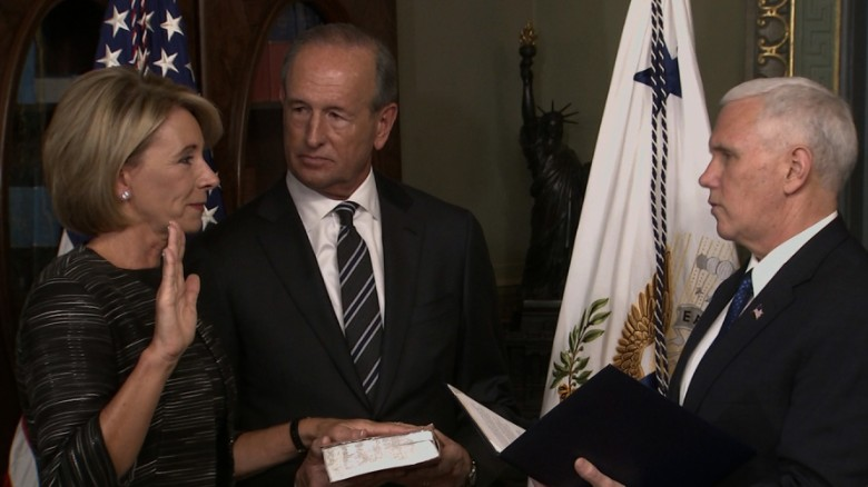 Betsy DeVos sworn in as education secretary