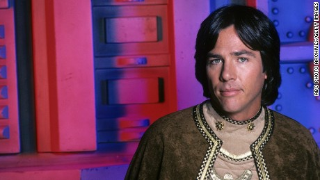"Richard Hatch in a 1978 photo as Captain Apollo on the original ""Battlestar Galactica""  television show."