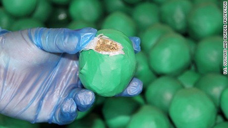 Officers discovered 34,764 lime-like packages containing drugs.