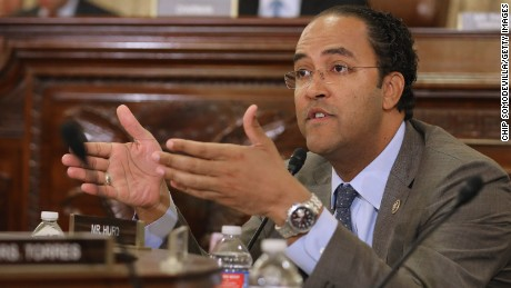 House Homeland Security Committee member Rep. Will Hurd (R-TX) asks questions about worldwide threats to the United States during a hearing in the Cannon House Office Building on Capitol Hill on October 21, 2015 in Washington, DC.