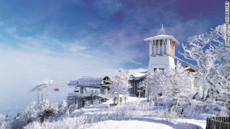 "Yongpyong's lodge served as a key setting for South Korean TV drama ""Winter Sonata."""