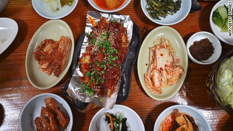 Fresh produce features heavily in Gangwon cuisine.
