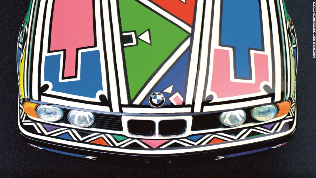 South African artist Esther Mahlangu's collaboration with BMW is on show at the 'South Africa: art of a nation' exhibition, which runs until February 26 at the British Museum in London.