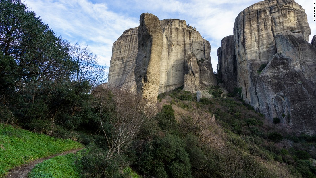"<strong>Climb the Spindle: </strong>Meteora is a rock climber's paradise, and this striking monolith known as ""The Spindle"" is one of the most popular climbing challenges."