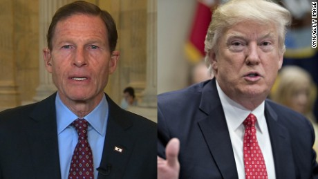 Sen. Blumenthal responds to Trump attack