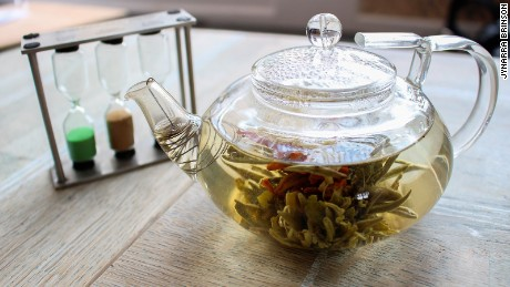 Proper Tea, Manchester, England: Located across from the Manchester Cathedral, this is an easy place to step in from the cold and sit. Its contemporary take on the traditional British tearoom includes Jasmine Fairies Performing Flower tea -- its jasmine flower unravels within a clear pot.