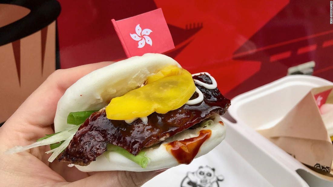 "<strong>Bringing food truck culture to Asia: </strong>The fluffy buns are stuffed with barbecued duck, chicken, beef or pork. ""I learned about food truck culture in Los Angeles, and I wanted to promote that in Asian countries, starting in Hong Kong,"" says Bao & Buns operator Raymond Wong."