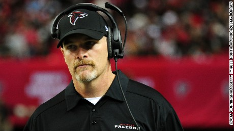 ATLANTA, GA - NOVEMBER 01:  Head coach Dan Quinn of the Atlanta Falcons looks on from the sidelines during the first half against the Tampa Bay Buccaneers at the Georgia Dome on November 1, 2015 in Atlanta, Georgia.  (Photo by Scott Cunningham/Getty Images)