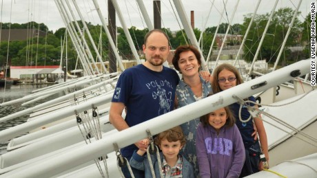 Kara-Murza with his family.