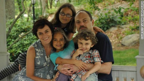 Kara-Murza with his wife, Evgenia, and their three children.