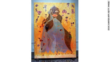 """The Holy Virgin Mary"" (1996) by Chris Ofili"