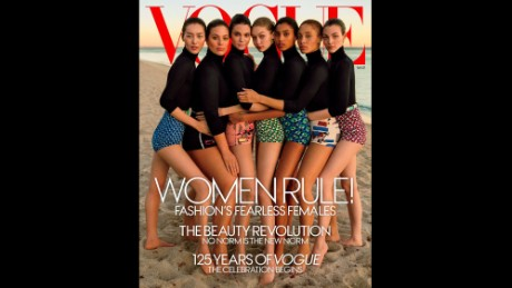 Vogue's 'diverse' March cover slammed as not so diverse