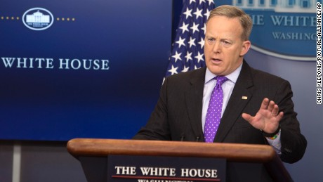 White House Press Secretary Sean Spicer holds a news briefing at The White House in Washington, DC, February 8, 2017.