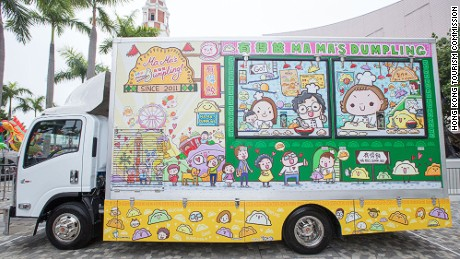 Ma Ma's Dumpling, one of 16 food trucks approved to sell on Hong Kong streets.