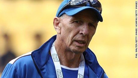 WELLINGTON, NEW ZEALAND - JANUARY 28:  Samoa coach Sir Gordon Tietjens during the 2017 Wellington Sevens at Westpac Stadium on January 28, 2017 in Wellington, New Zealand.  (Photo by Phil Walter/Getty Images)