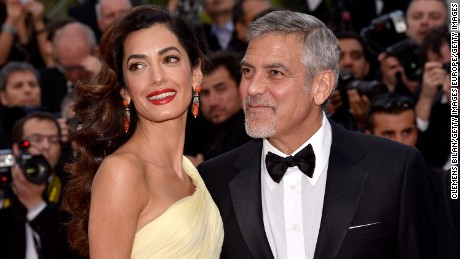 "CANNES, FRANCE - MAY 12:  Actor George Clooney and his wife Amal Clooney attend the ""Money Monster"" premiere during the 69th annual Cannes Film Festival at the Palais des Festivals on May 12, 2016 in Cannes, France.  (Photo by Clemens Bilan/Getty Images)"