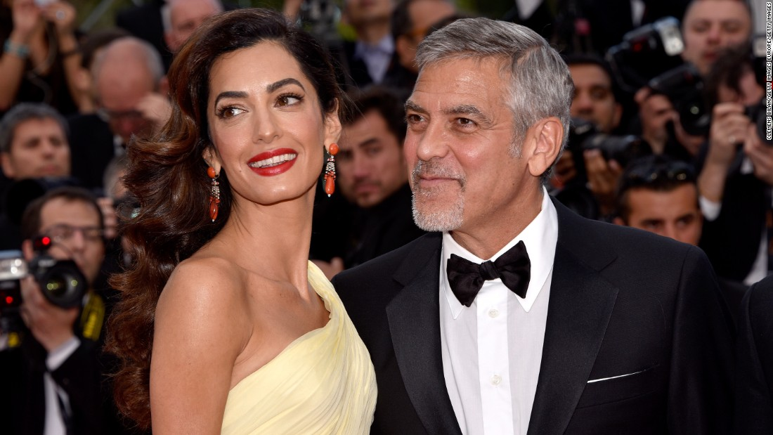 "George and Amal Clooney <a href=""http://www.cnn.com/2017/06/06/entertainment/george-clooney-amal-clooney-twins/index.html"" target=""_blank"">welcomed twins Ella and Alexander in June. </a>They are the first children for the couple, who married in 2014."