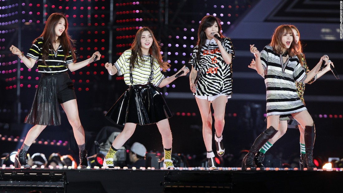 4Minute onstage during the 20th Dream Concert on June 7, 2014 in Seoul, South Korea. The South Korean pop group disbanded June 2016.