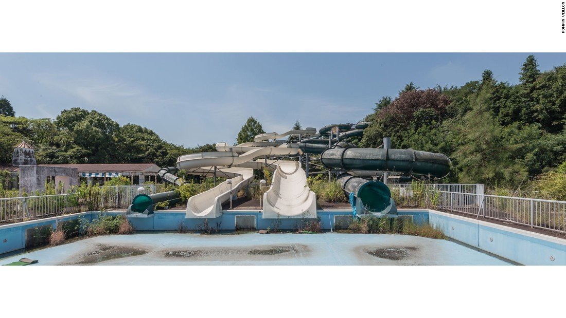 The park, Nara Dreamland, has been abandoned for a decade and was demolished in 2016.