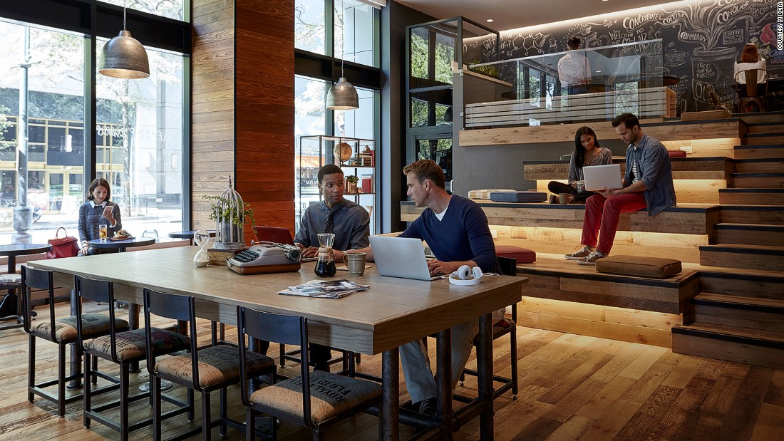 "<strong>M Beta, Charlotte, North Carolina: </strong>Marriott International has also tapped into the bleisure trend with its own ""travel innovation lab"" M Beta, which debuted at the Charlotte Marriott City Center."